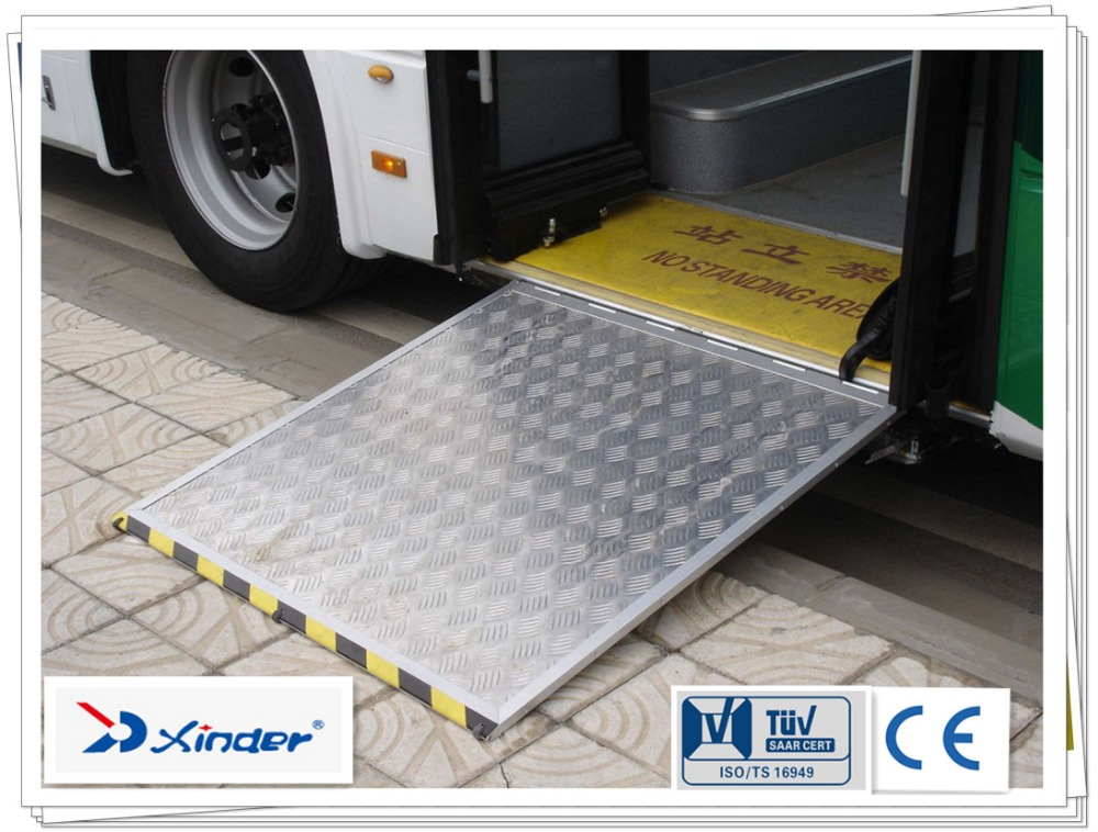 350kg EWR-L1 Electric Folding Alloy Aluminum Bus wheelchair Ramps for disabled and old with CE certificate