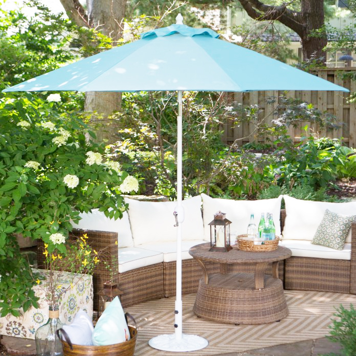 גן 4Pcs 3m * 3m טיק עץ תליית מטרייה