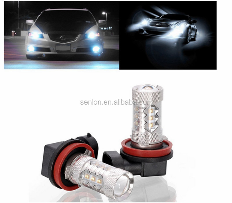 Top Power White Amber H11 12v 80w Led Bulb Light Factory In Auto ...