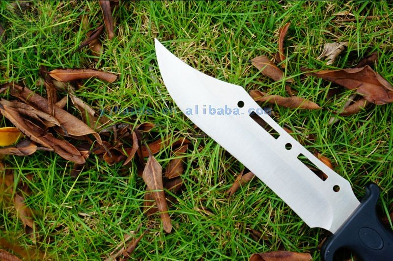 Stainless steel sanding fixed blade knife , factory survival knife high quality