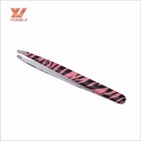 Hot sale colorful stainless steel eyelash applicator and curved tweezer