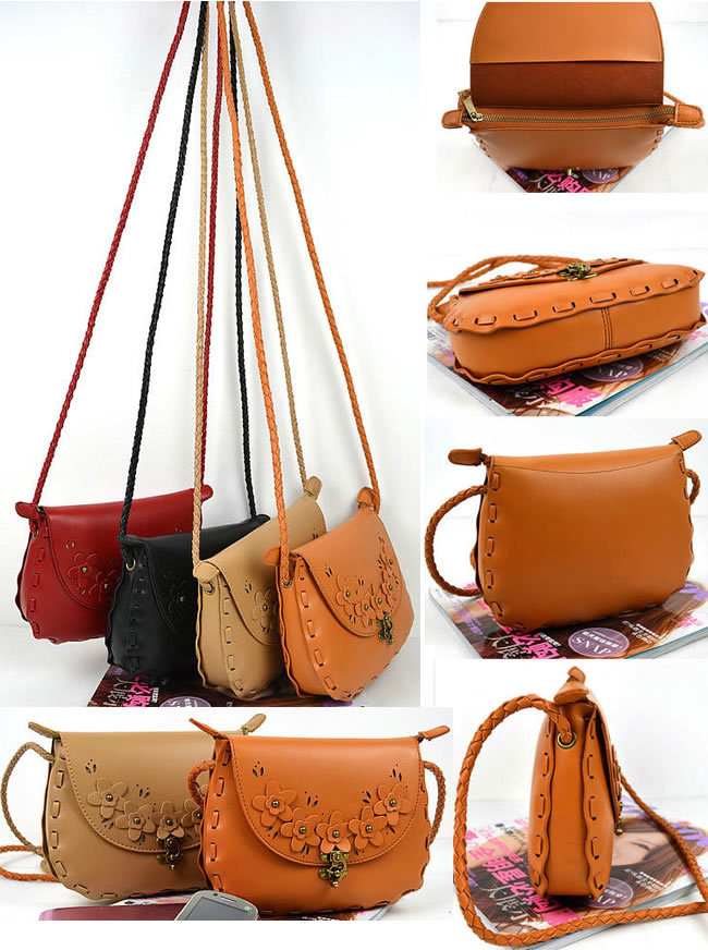 Pu Cute Sling Bag For Teenagers With Decorative Flowes - Buy Sling ...