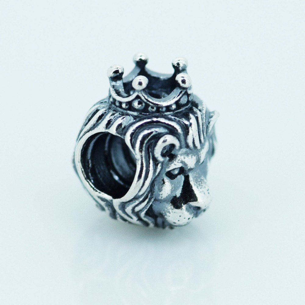 4cc4c0738 Get Quotations · Fits Pandora Charms Bracelet 925 Sterling Silver Bead  Animals Crown Lion King Charm Women DIY Jewelry