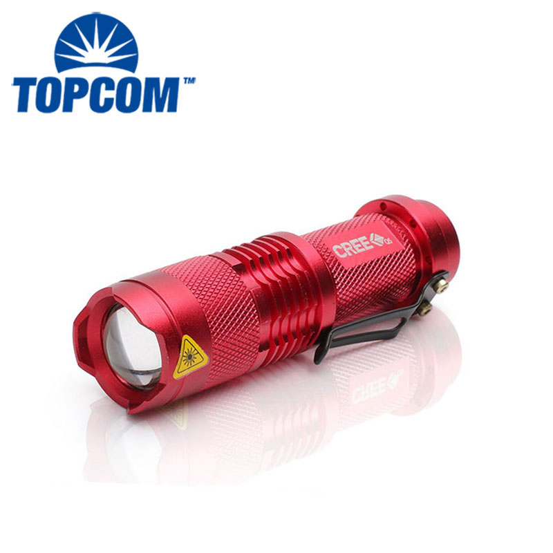 Mini Strong Light 3W Aluminum Zoomable Rechargeable Portable Flashlight