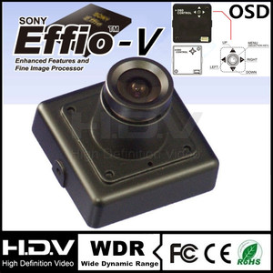 "30*30mm OSD, Effio-V DSP 1/3"" Sony CCD 800TVL, 0.0003Lux , 3.6mm Board Lens Color Ultra WDR MINI Square Camera HDV-M30W-O-L3.6"