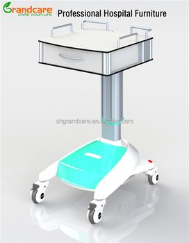 Hospital mesa de ordenador en las ruedas con alimentaci n - Mesas de ordenador con ruedas ...