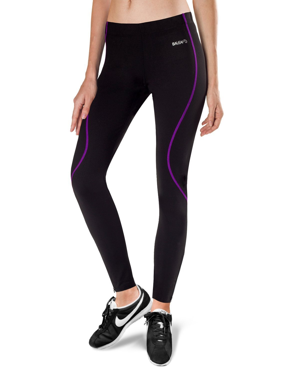 985df2b51eea23 Get Quotations · Baleaf Women's Thermal Fleece Athletic Running Cycling  Tights