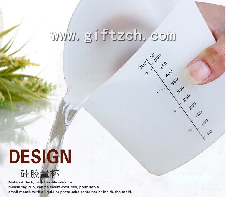 500ML Silicone measuring cup,plastic measuring tool
