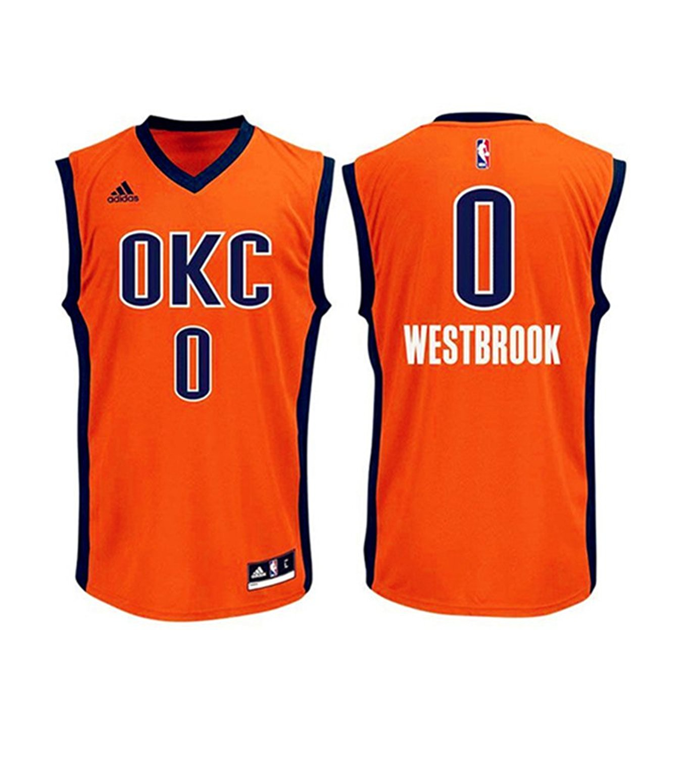 Buy thunder #0 Russell Westbrook Blue christmas day jersey men ...