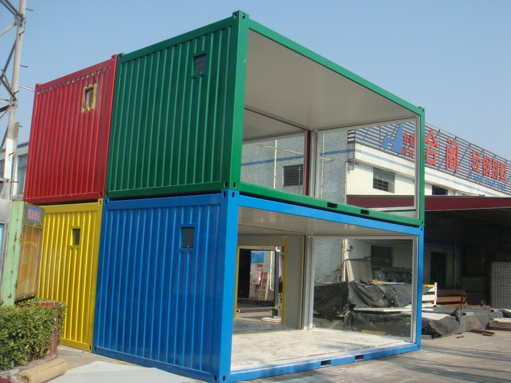 Luxury container villa china prefab container houses 20ft for Villa en container