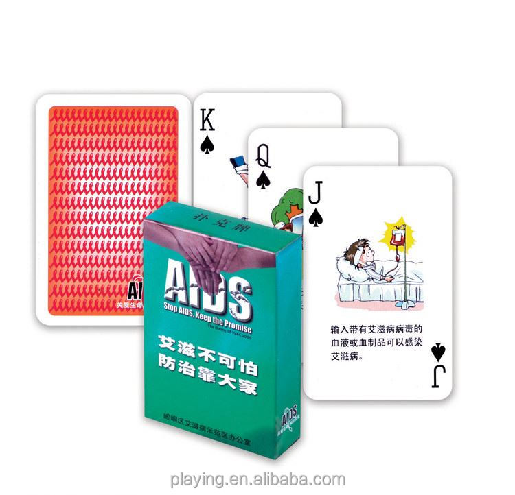 Modern style excellent quality paper advertising palying card