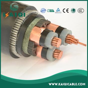 Copper Core Steel Wire Armored Pe Sheathed 3 Core 120mm2 Xlpe 11kv ...