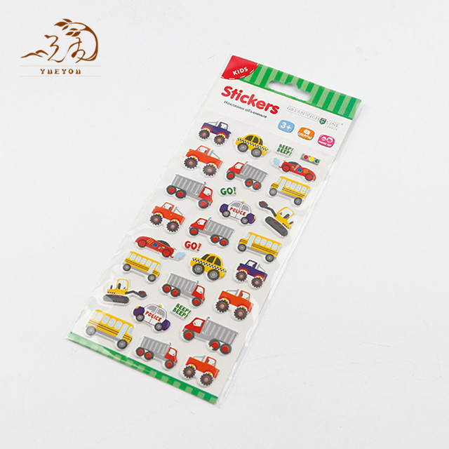 China wholesale vinyl printing stickers sheet promotional pvc custom sticker car design