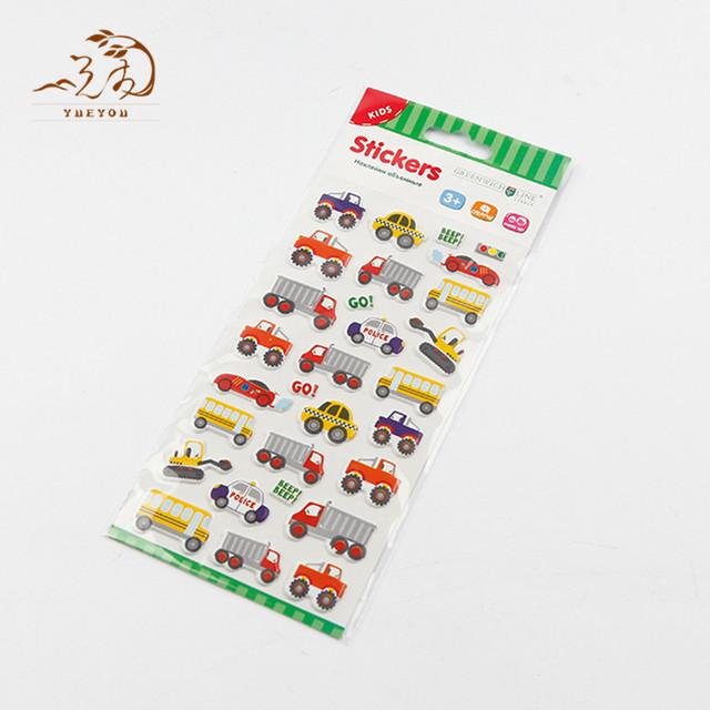 China wholesale vinyl printing stickers sheet promotional pvc custom sticker car design