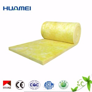 Fireproof fiber glass wool blanket rolls waterproof thermal insulation