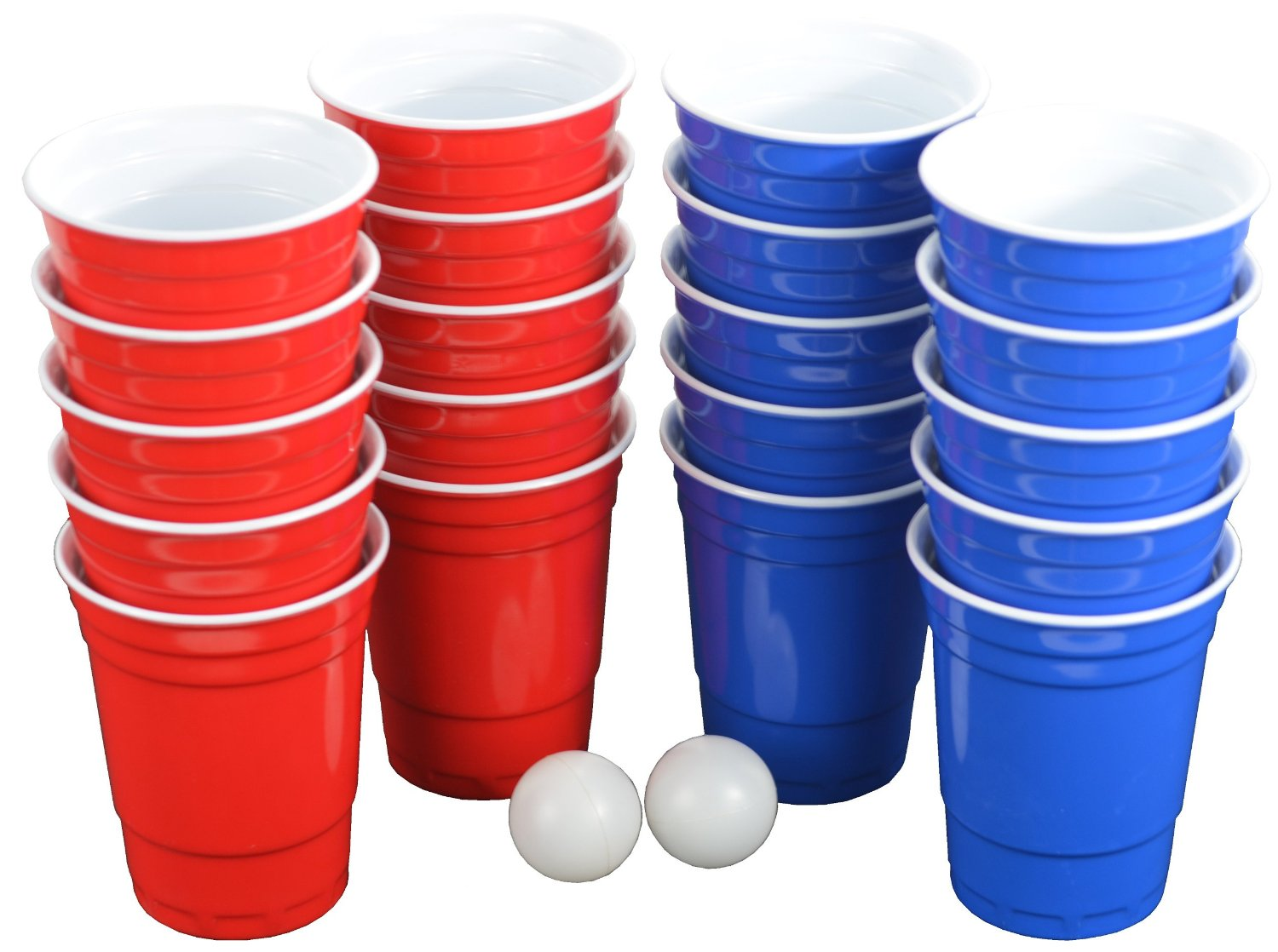 Pro Series Beer Pong Set - With Hard Plastic Melamine Cups!