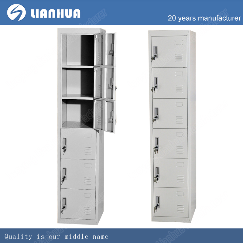 New Year Most Popular KD Structure 6 door changing room metal mini locker storage cabinet for sale