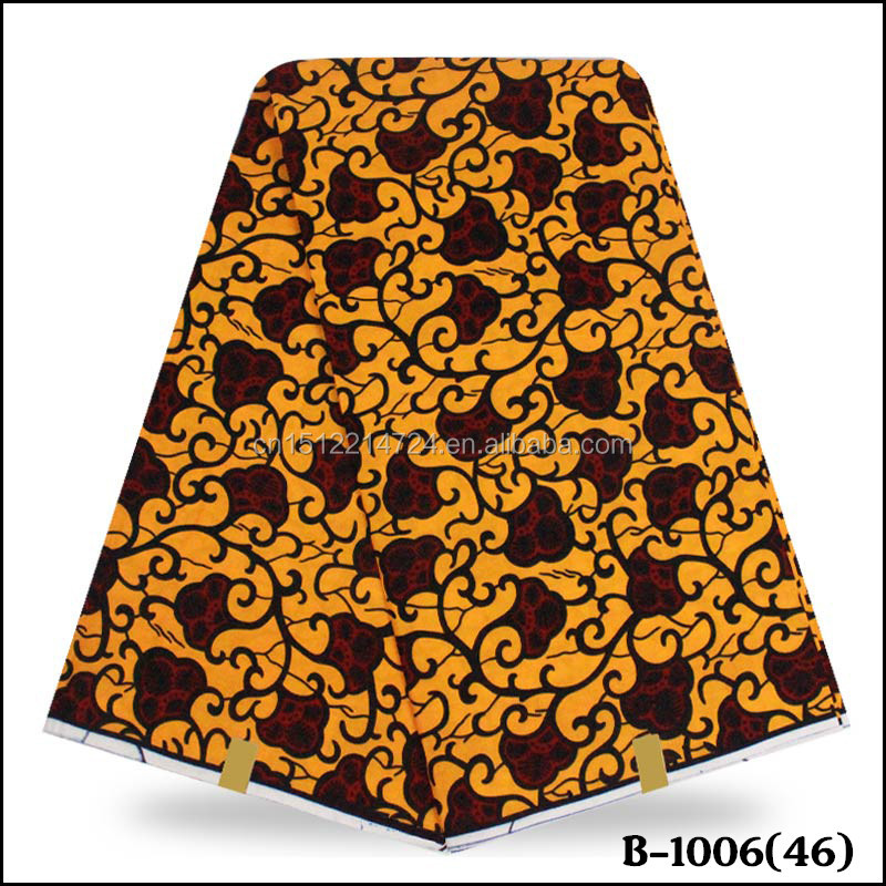 African Real Hollandais wax fabric 6 yards High Quality Veritable super wax fabric 100% cotton fabric for sewing dress wax print