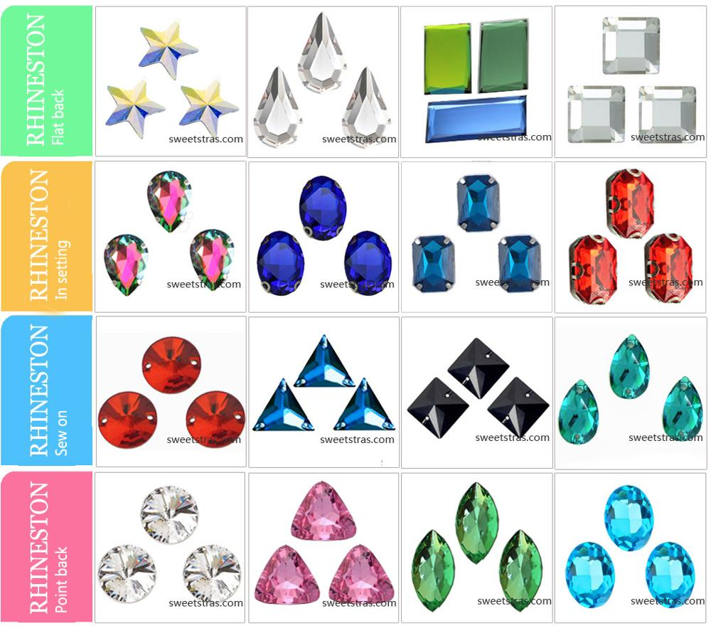factory outlet various color and sizes garment accessories rhinestones