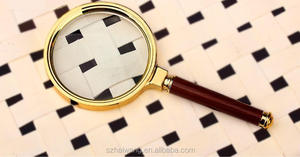 2015 90mm wooden handle magnifying glass x10