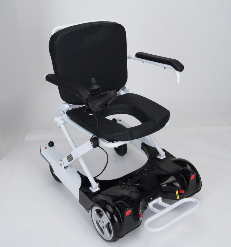 Lightweight economy folding lithium battery brushless motor electric power wheelchair for old and disabled