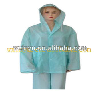 E-E0008 Fashion lady weterproof plastic one piece rain suits