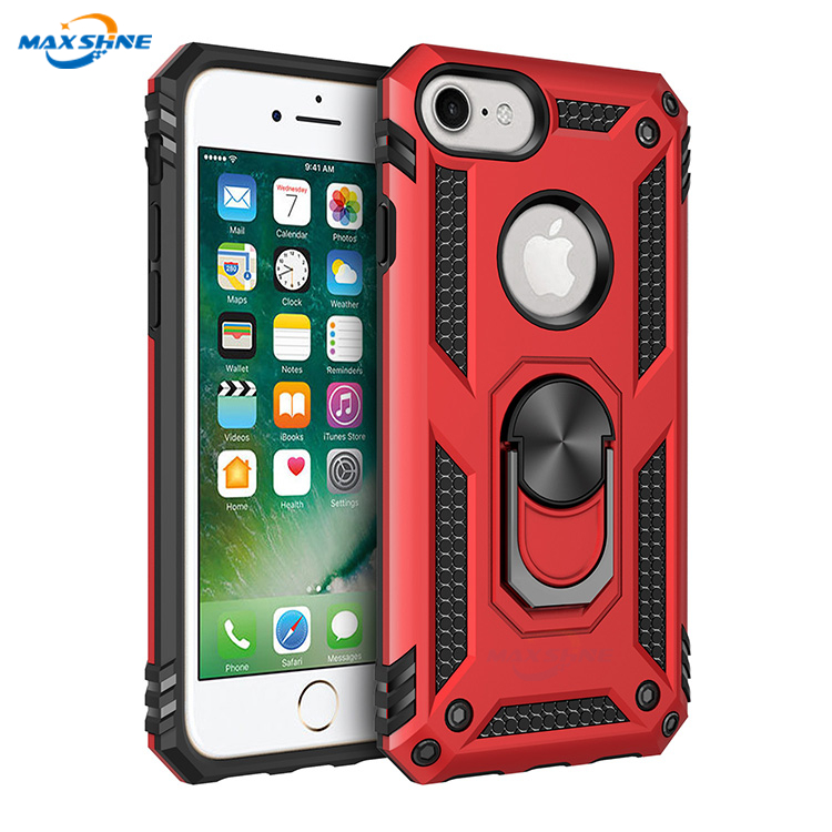Maxshine 360 Degree Rotating Ring Kickstand Function Case for iPhone 6/7/8 , Heavy Duty Case for Samsung S10/S10 plus /S10E