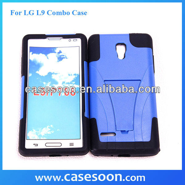 Hybird Cover For LG Optimus L9 P760 case, Rubberize Silicone Combo Case for LG Optimus L9 P769 P760 With Stand