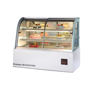 2/1.8/1.5/1.2m high quantity ice cream cake display showcase refrigerator refrigerated square glass cabinet