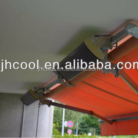 Infrared outdoor heater with rain awning CE
