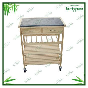 2014 Bambù Piano In Marmo Cucina Carrello In Legno - Buy Product ...