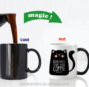 Super Cool cat Mugs Color Change Ceramic Coffee Gift For Friend Heat Reveal Magic Mugs