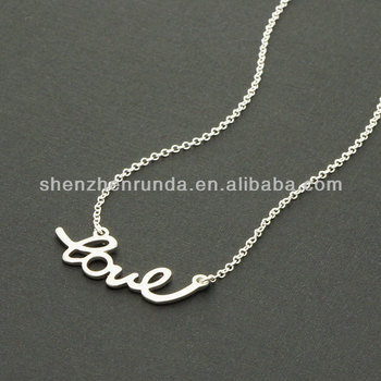 Wholesale stainless steel pendants necklace love name necklaces for wholesale stainless steel pendants necklace love name necklaces for women jewelry manufacturer mozeypictures Image collections