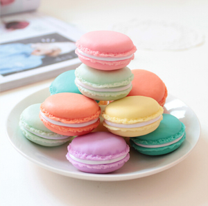 Mini cute colorful girl women PP storage box case Macaron cake shape jewelry box