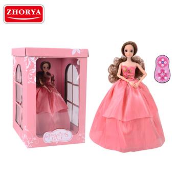 Zhorya plastik sendi bergerak remote control mode gadis putri musik boneka  dengan mode paket 2b46188fbb