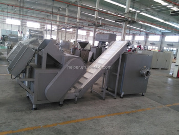 Automatic flaker and grinder line