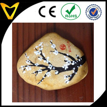 Flower painting on stone custom flower painting