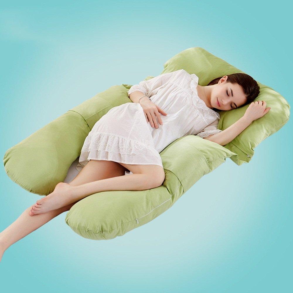 Pregnant women pillow / multi-functional pregnant women pillow / u pillow / pregnant women pillow / side sleep pillow ( Color : Green )