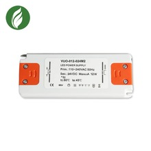 24 Watt Dimmable Driver Universal for LED Light Strips - 110V AC-12V DC Transformer Compatible with Lutron and Leviton