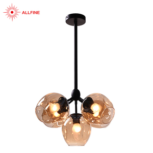High quality modern warm bedroom black rion glass oriental chandelier