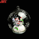 Wholesale hanging transparent led custom christmas ornament decoration glass ball with light