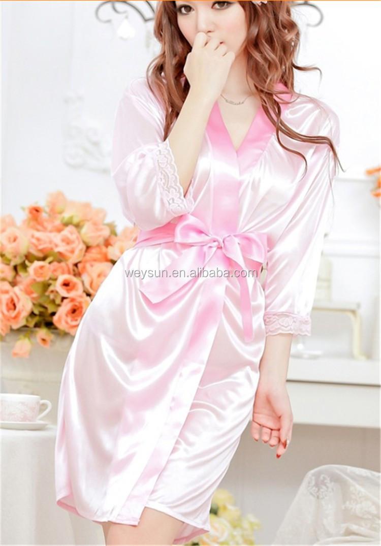 Wanita Satin Sutra Jubah Pernikahan Pengantin Pengiring Pengantin Pakaian  Dalam Wanita Set Baju Tidur Baju Tidur - Buy Wanita Jubah Wanita Seksi  Jubah