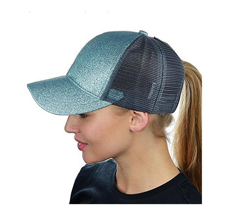 Top Selling Woman Girls Fashion Ponytail Mesh Hat, Summer Ponytail Baseball Caps With <strong>custom</strong> brands