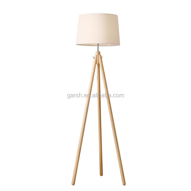 Nordic Room Fabric Tree Standing Lights Pendant Lamp Floor Wood