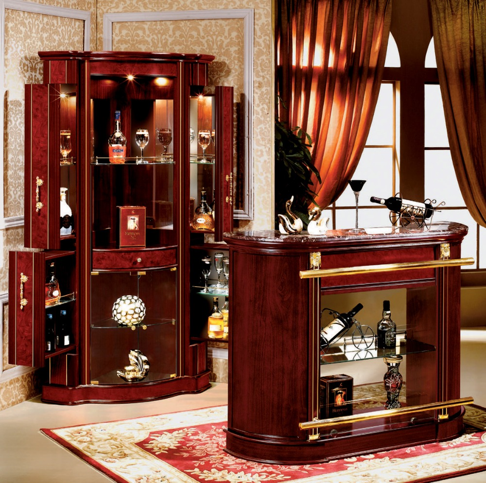Wood Home Bar Furniture: Wooden Home Furniture Glass Wine Mini Bar Cabinet 816-a