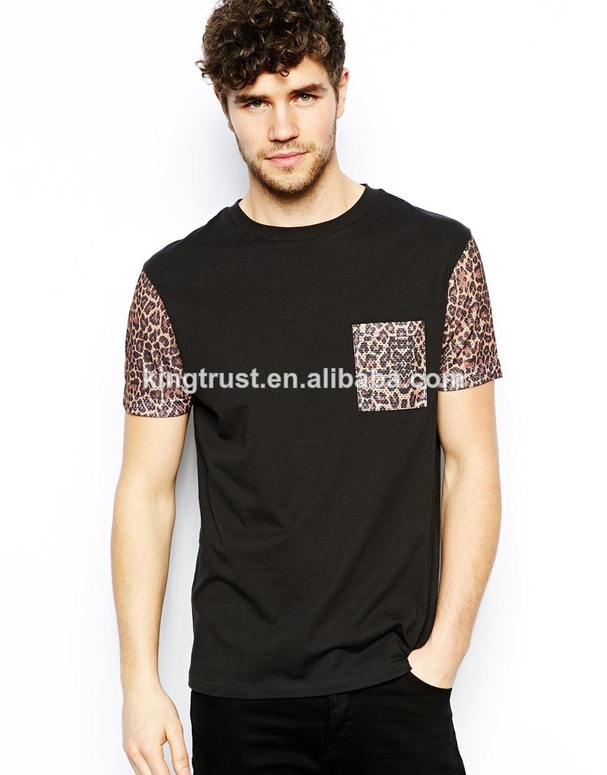2014 Men`s Fashion Wholesale T Shirts 1 Euro/black T Shirt/leopard ...