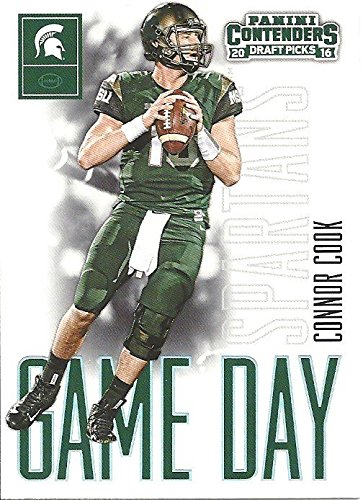 """CONNOR COOK """"GAME DAY"""" SPECIAL INSERT FOOTBALL CARD - 2016 PANINI CONTENDERS DRAFT PICKS FOOTBALL CARD #3 (OAKLAND RAIDERS) FREE SHIPPING & TRACKING"""