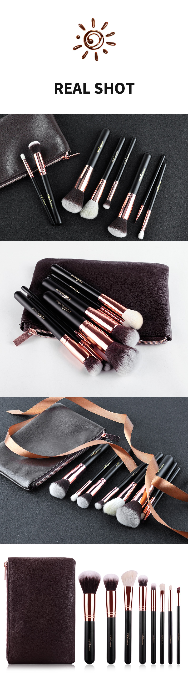 MSQ 8pcs makeup brush kit high quality custom logo makeup brush wholesale makeup brush