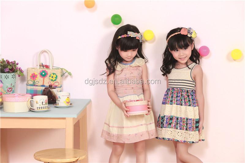 669a761c6946 Moderno nuovo modello di vestito dalla ragazza di 2015 versione coreana dei  vestiti dei bambini di