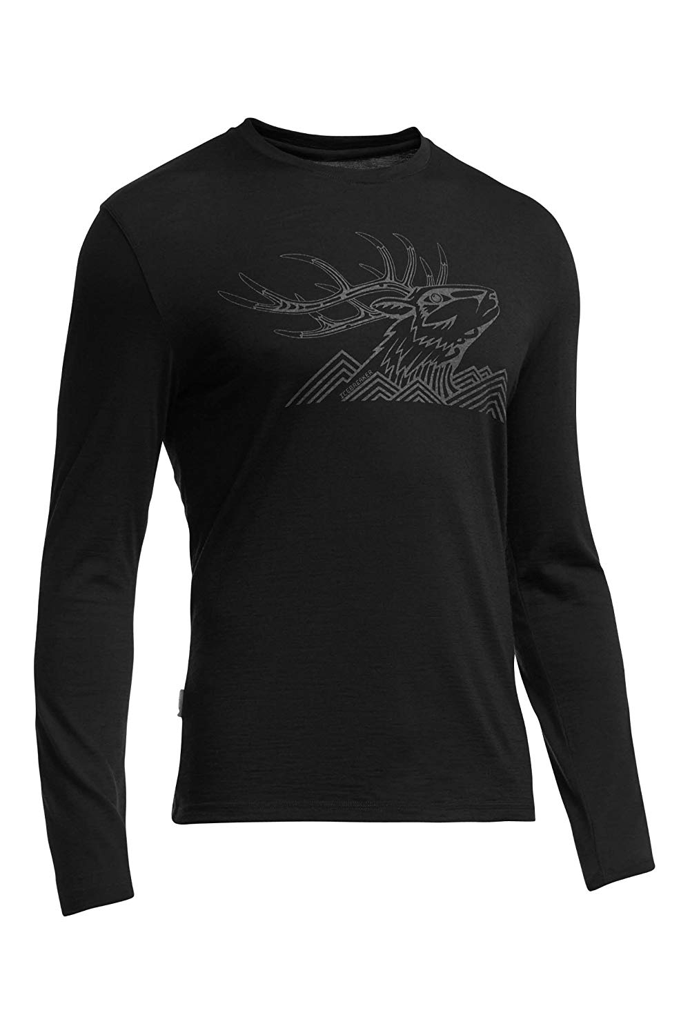 Icebreaker Tech Lite LS Crew Antler Mtn Top - Men's